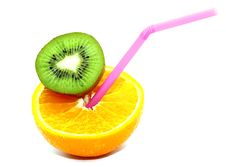 Free Orange And Kiwi Nature Cocktail Stock Photo - 20312340
