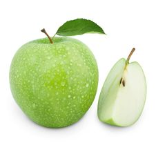 Free Green Apples And Half Stock Image - 20312371