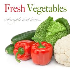 Free Fresh Vegetable Isolated Royalty Free Stock Images - 20312569