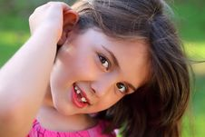 Free Cute Smiley Little Girl Looking Royalty Free Stock Photo - 20313245