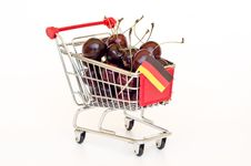 Free Cherry In A Cart Stock Image - 20313271