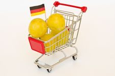 Free Shopping Cart With Plum Royalty Free Stock Images - 20313279