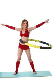 Free Woman With Hula-hoop Stock Photos - 20313543