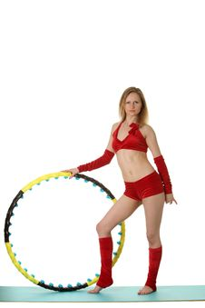 Free Woman With Hula-hoop Royalty Free Stock Photography - 20313547