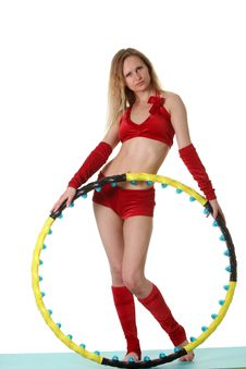 Free Woman With Hula-hoop Royalty Free Stock Images - 20313549