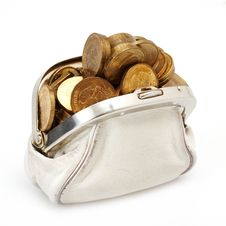 Free Open Purse With Gold Coins Royalty Free Stock Image - 20313646