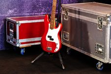 Free A Red Bass Guitar Royalty Free Stock Photo - 20313735