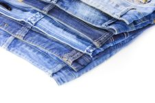 Free Blue Jeans Isolated On White Background Royalty Free Stock Photo - 20314205