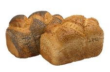 Free Two Loaves Of  Fresh Wheat  Bread Royalty Free Stock Images - 20315059