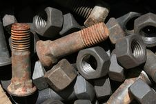 Free Nuts And Bolts In The Form Of Background Royalty Free Stock Images - 20315449