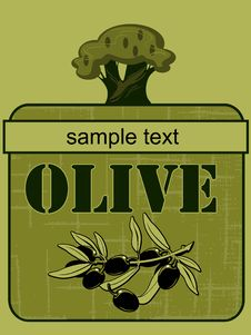 Free Label Olive  2 Stock Photos - 20315563