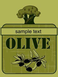 Free Label Olive  2 Stock Photos - 20315563