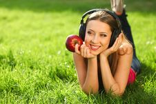 Free Woman With Headphones Royalty Free Stock Photography - 20316047