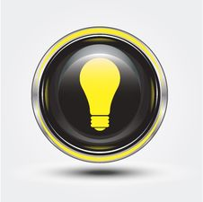 Free Bulb On Button Stock Images - 20316364