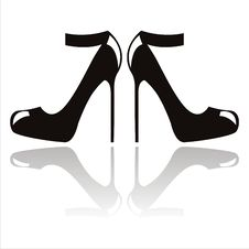Free Abstract Shoes Silhouette Stock Image - 20316401