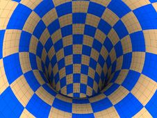 Free Checkers Tunnel Royalty Free Stock Photography - 20316827