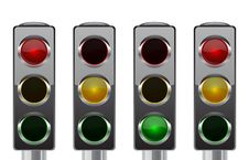 Free Traffic Lights For Your Design Royalty Free Stock Photo - 20317685