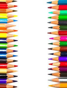 Close Up Of Color Pencils Stock Photo