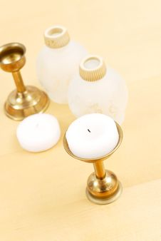 Free Tea Candle Decoratives Stock Photography - 20318052