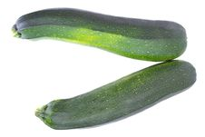 Free Zucchini Isolated On White Royalty Free Stock Photos - 20318528