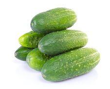 Free Cucumbers Isolated On White Stock Image - 20318591