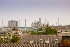 Gas Refineries Plants Royalty Free Stock Images