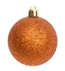 Gold Christmas Ball Isolated Royalty Free Stock Image