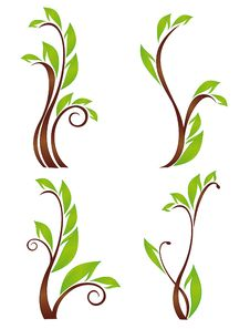 Free Collection Of  Green Ecology Plants Royalty Free Stock Images - 20318789