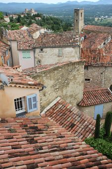 Free Areal View Of Callian, France Royalty Free Stock Photography - 20319247