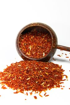 Red Jasmine Rice And Beaker Stock Photos