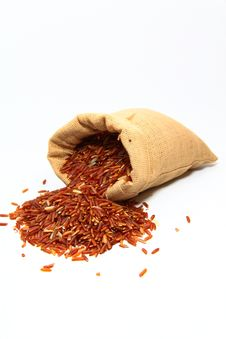 Red Jasmine Rice And Beaker Stock Photo