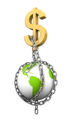 Free Chaining The World With Money Royalty Free Stock Photography - 20319927