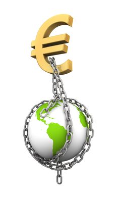 Free Chaining The World With Money Royalty Free Stock Image - 20319936