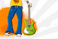 Free Man Holding Guitar Royalty Free Stock Photography - 20321217