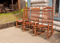 Free Three Rocking Chairs Royalty Free Stock Image - 20322156