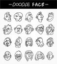 Free Hand Draw People Face Icons Set Royalty Free Stock Photos - 20322968
