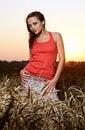 Free Woman In Wheat Field Stock Photo - 20324050