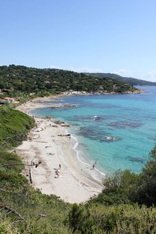 Free Bonne Terrase Beach On The French Riviera Stock Images - 20320044