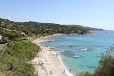 Free Bonne Terrase Beach On The French Riviera Royalty Free Stock Images - 20320069