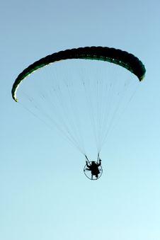 Motor Paragliding Stock Photo