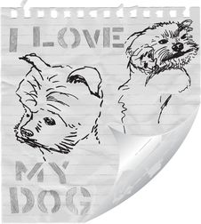 Free I Love My Dog Royalty Free Stock Image - 20320506