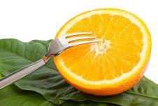 Free Cut Orange With A Plug Royalty Free Stock Photos - 20320758
