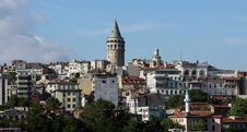 Galata Tower, Istanbul. Stock Images