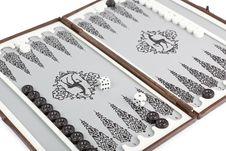 Portable Backgammon Stock Photos