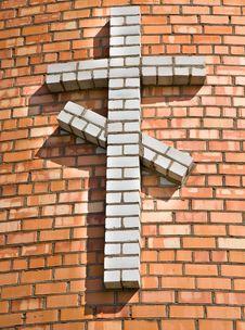 Brick Cross Royalty Free Stock Images