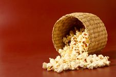 Free Popcorn On Red Background Royalty Free Stock Image - 20322256