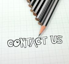 Free Pencil Pointed Contact Royalty Free Stock Image - 20322386