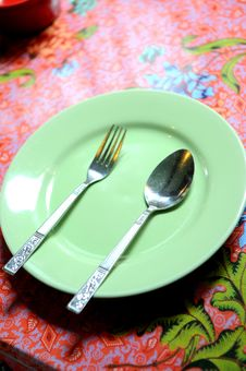 Free Green Plate Royalty Free Stock Photos - 20322658