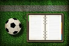 Free Football And Blank Notebook Royalty Free Stock Image - 20322676