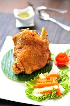 Fried Pork Leg Stock Photography